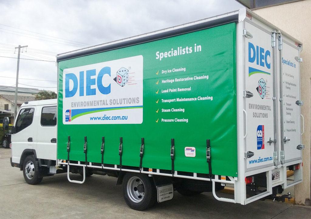 DIEC truck wrap