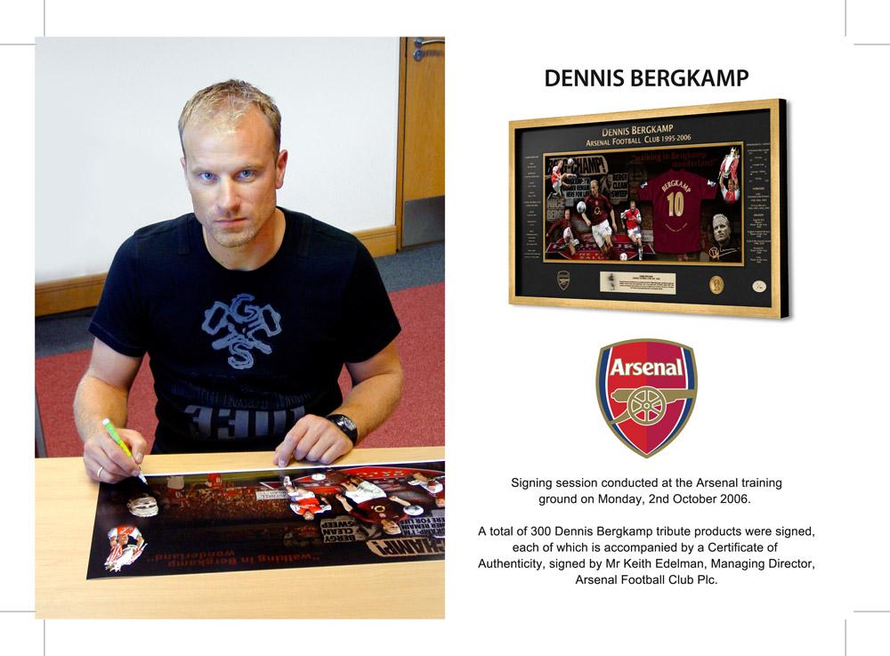 Dennis Bergkamp - Signing session