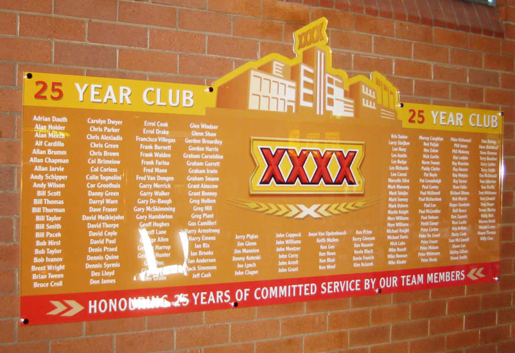 FourX- Honour Board