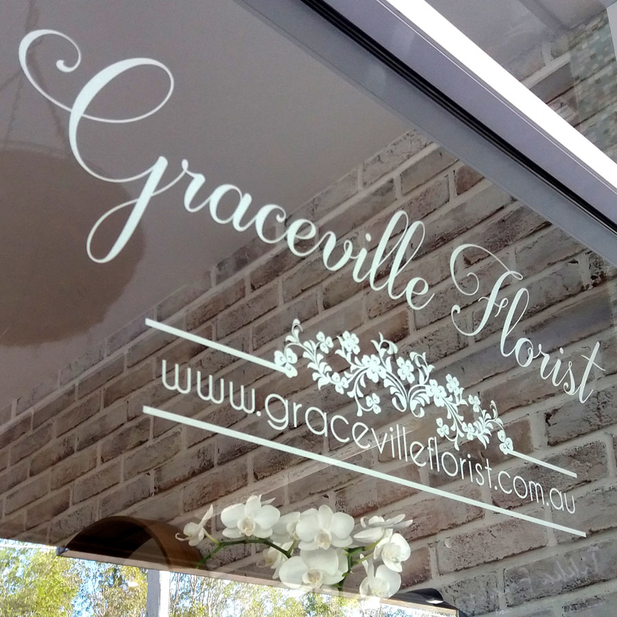 Graceville Florist - Window Sign