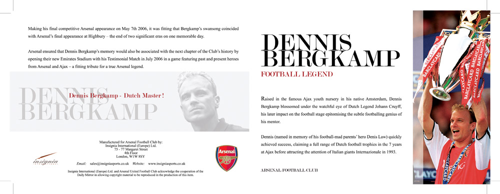 Legend series - Dennis Bergkamp