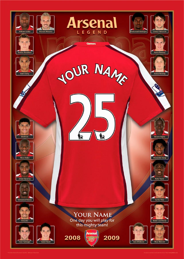 Personalised - Arsenal