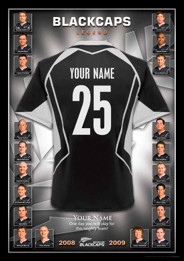 Personalised - Blackcaps