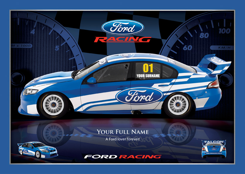 Personalised - Ford racing - poster